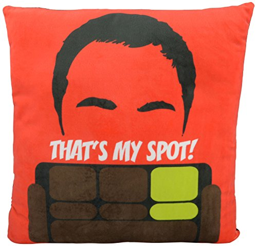 "Big Bang Theory The Sheldon Cooper ""That`s My Spot"" – ca. 40 x 40 cm – 0122077 Kissen, Polyester, schwarz, 40 x 40 x 3 cm"