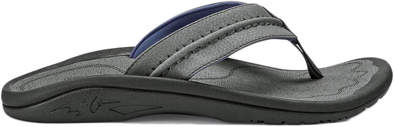 OluKai Hokua Slipper - Mans Charcoll Charcoll Charcoll  Charkole 9  köpa billigt