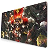 Lord of Ainz Overlord Anime Cosplay Mouse Mat, Large Large Gaming Mouse Pad Extended Desk Pad with Non-Slip Stitched Edges Novelty Keyboard MAT for PC Laptop,15.8x29.5x0.1 Inch