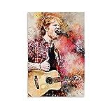DONGH Ed Sheeran Poster, dekoratives Gemälde, Leinwand,