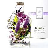 フェリナス ハーバリウム (ナチュラル パープル) 敬老の日 花 ギフト 贈り物 結婚 記念日 誕生日 プレゼント whisky-purple