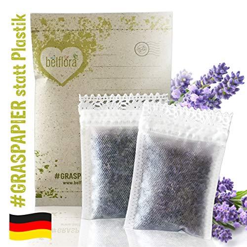 BELFLORA Lavendelsäckchen mit gereinigten Lavendelblüten Lavendel Duftsäckchen Aktion 2 x Duft für den Kleiderschrank
