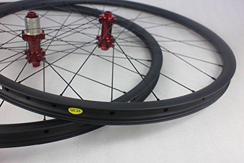 Buckdirect Worldwide Ltd. Mountain ruote della bici del carbonio UD opaco 2,5 millimetri set di ruote 29inch Offset