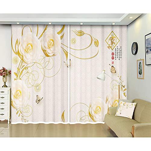 cortinas blancas seda