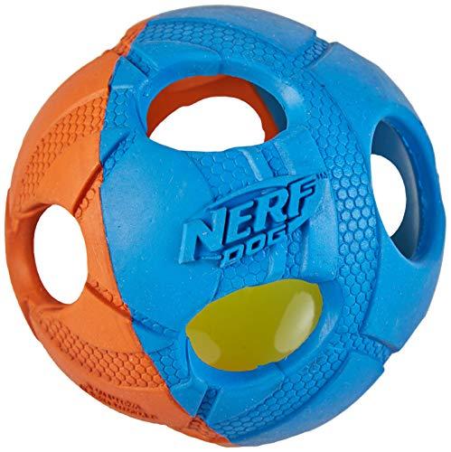 Nerf Dog VP6787E LED Ball, zweifarbig orange/blau, M