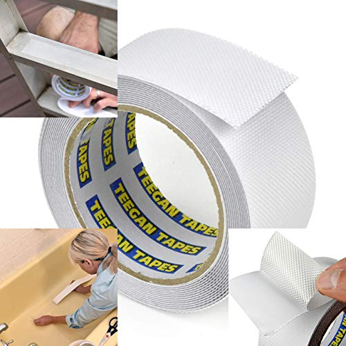 Anti Slip Tape | Waterproof | Clear Non-Slip Friction Tape | Home, Commercial & Industrial Use by Teegan Tapes