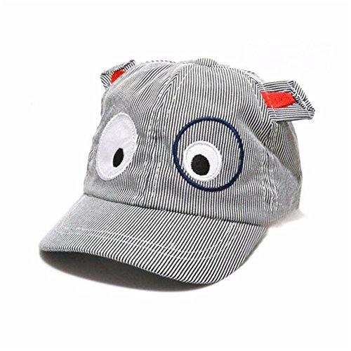 Vovotrade® Kids Boys Girls Cute Cartoon Dog Beret Hat Sun Hat Baseball Cap (Black, free size)