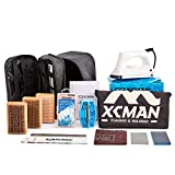 XCMAN Complete Ski Snowboard Tuning and Waxing Kit with Waxing Iron,Universal Wax,Edge Tuner