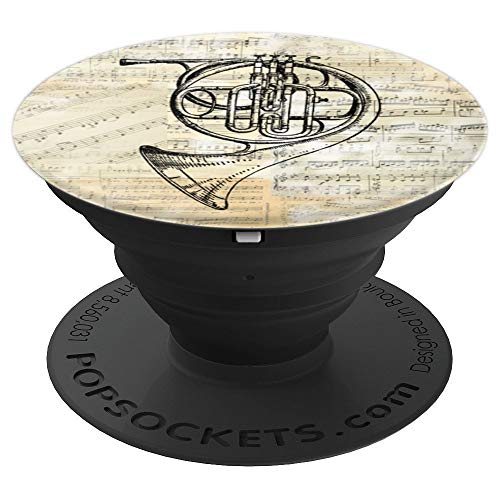 Vintage French Horn Music PopSocket PopSockets Grip and Stand for Phones and Tablets