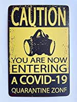 【eiwasailsors】コロナ対策注意警告看板 COVID-19 ポスター メタルサイン  金属 TIN SIGN お部屋 お店 壁飾り 個性 インテリア アメリカ雑貨 アメリカンブリキ看板 レトロ調  20x30cm