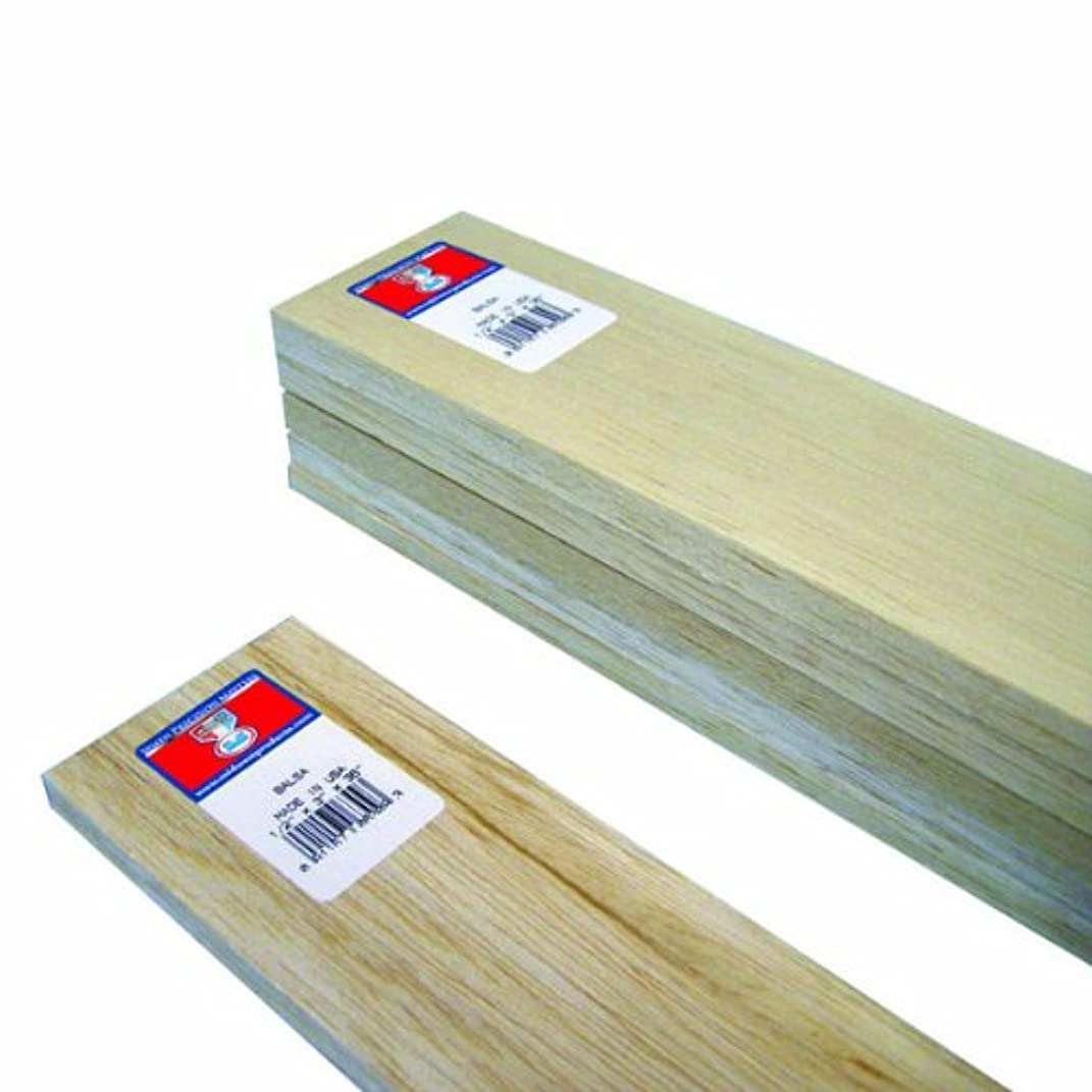 Midwest Products 6309 Micro-Cut Quality Balsa 36-Inch Sheet Bundle, 0.5 x 3 Inches
