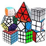RENFEIYUAN Set de Rubix, Set 2x2 3x3 4x4 Espejo Fisher Bun Llavero, Paquete de MA Liso rápido de 9 Rubik Cubo