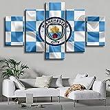 ZhuHZ Wandbilder Premier League Manchester City Poster