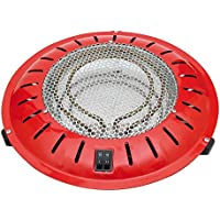 HJM 22020910 Brasero Electrico 400/500/900 W, 400 W, Metal, Rojo