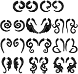 16g Graceful Tribal Spiral Fake Gauges Acrylic Ear Tapers Fake plugs Horn stud earrings (11 Pairs Mixed-styles)