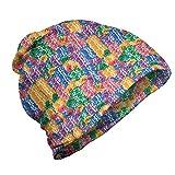 ABAKUHAUS Coloré Bonnet Unisexe, Casino Chips Chance, Randonnée en Extérieur, Multicolore