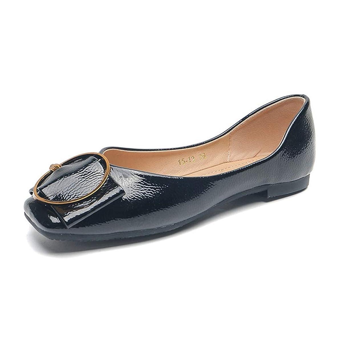 回転する依存するイサカレディース パンプス 婦人靴 滑り止め 軽量 美脚 フラットシューズ 歩きやすい 疲れにくい 柔らかい ぺたんこ スリッポン カジュアル 通勤 お出かけ 二次会 スクエアトゥ 無地 ブラック ベージュ 22.5-25.0CM