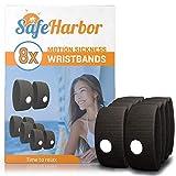 SafeHarbor 4-Pair Motion Sickness Wristbands   8 Sea...