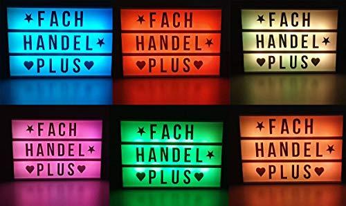 Leuchtbox RGB Farbwechsel LED Light Box mit Timer und Fernbedienung 85 Zeichen