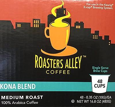 Roasters Alley Coffee Kona Blend Medium Roast 48 cups