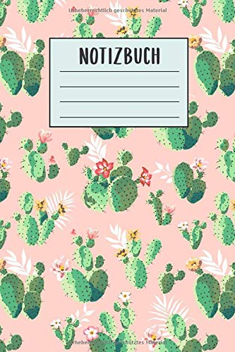 Notizbuch: Kaktus Notizbuch 6x9 liniert