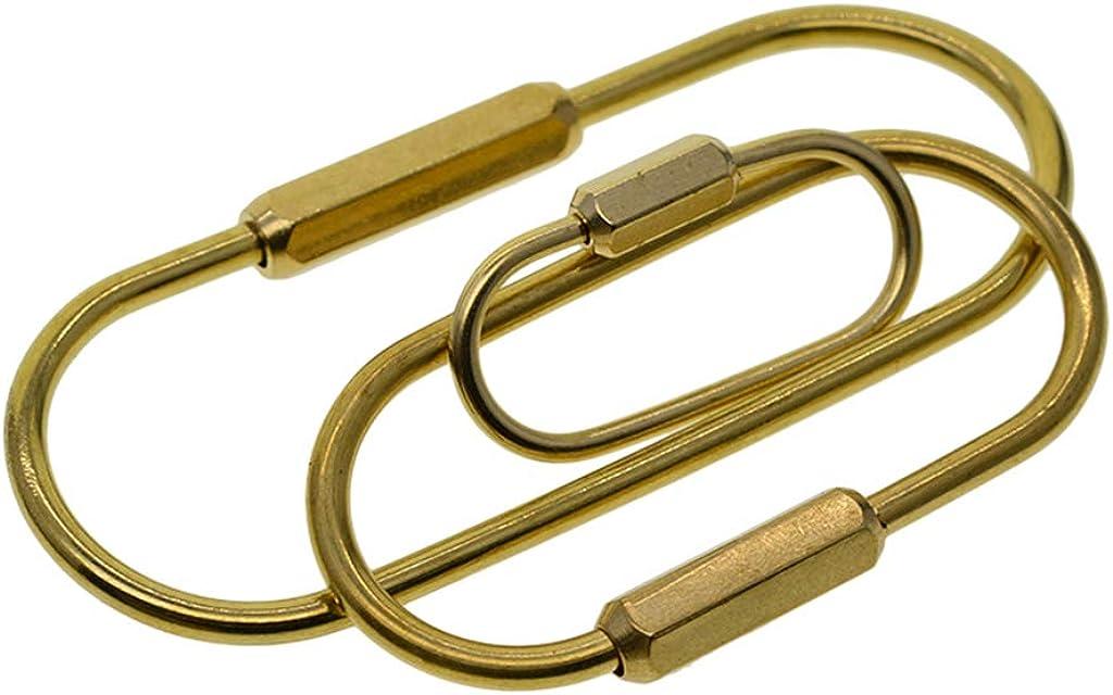 Baoblaze 3Pcs/set Durable Brass Screw Lock Clip Key Chain Ring, Simple Style Car Keychain for Men Women, Lightweight