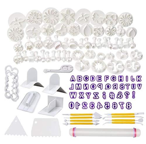YILANS Cake Decorating Tools, DIY Fondant Cake Decorating Cutters Icing Sugar craft Tools Kits voor Fondant Siroop Koekjes Amandel Sugar Craft 114 Stks