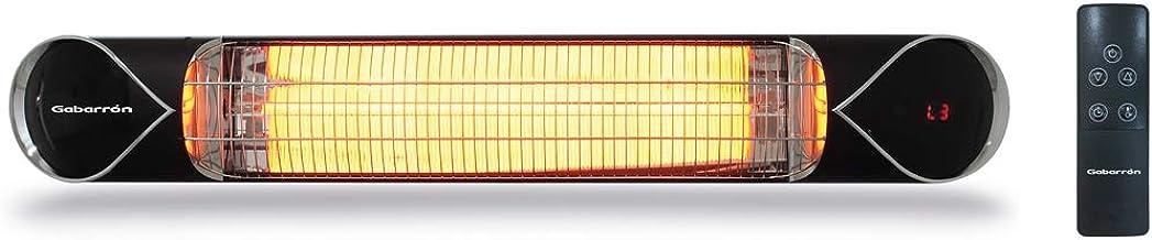 ELNUR GABARRON | Calefactor Infrarrojo IFC2000 De Lámpara De Fibra De Carbono Para Interior y Exterior | 2000W | Instalación En Techo o Mural | Función De Tiempos | Larga Vida Útil Al Ser De Carbono