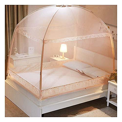 Meet World Pop Up Moskitonetz, tragbares Zelt Reise DREI Tür Reißverschluss Bett Netz, einfache Installation und feines Netz, perfekt für Schlafzimmer im Freien ,1,200*220cm