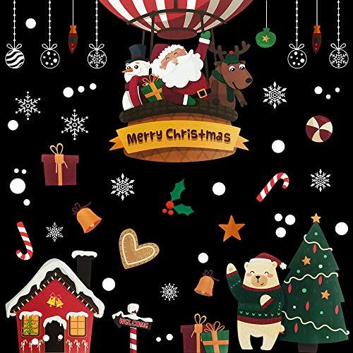クリスマス 飾り 跡が残らない 子供 気に入る 剥がせる ウォールステッカー 部屋 店舗用
