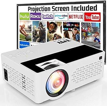 TMY 1080P Full HD 5500-Lumens Mini Movie Projector
