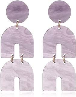 Fashion Horseshoe Acrylic Dangle Earrings Statement Acetic Acid Long Drop Earrings For Women Trendy Pendientes Jewelry