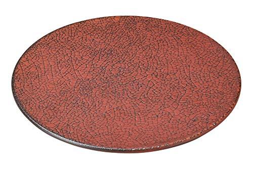 柿赤 16cm平丸皿 [ 16.5 x 1cm ] [ 中皿 ] | 飲食店 和食 旅館 料亭 ホテル 業務用