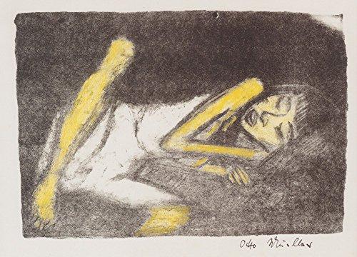 Il Museo outlet–Otto Mueller–ragazza sulla sedia a sdraio–1919–Tela Print comprare online (76,2x 101,6cm)
