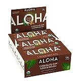 ALOHA Organic Plant Based Protein Bars  Chocolate Chip Cookie Dough   12 Count, 1.9oz Bars   Vegan...