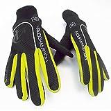 VeloChampion Autumn Windproof/Showerproof Cycling Gloves (Black/Fluoro Yellow, XS)