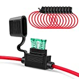 Nilight 10 Pack NI-FH01 Inline Holder 14AWG Wiring Harness ATC/ATO 30AMP Blade Automotive ...