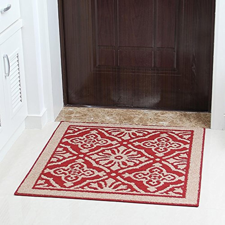 JinYiDian'Shop-Continental Mats Door Mat Feet 8080Cm, Red Lugs