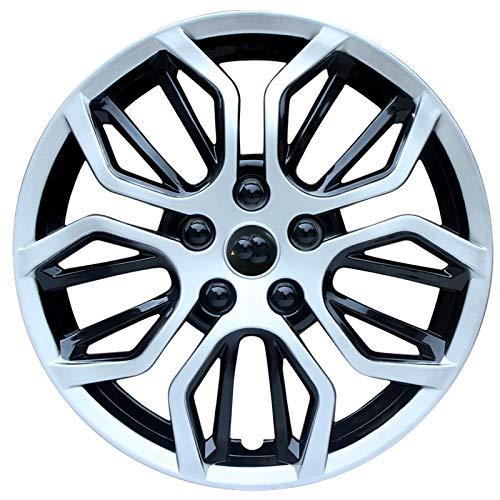 CHICAI 4pcs Rueda Recorte colección Libre Compatible con 12/14/15 Pulgadas Cubiertas de Ruedas Piezas de modificación de automóviles Enviar Logo de Coche (Color : Silver, Size : 15INCH)