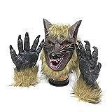 thematys Mauvais Loup avec Masque de Gants de Griffe - Parfait pour Le Carnaval, Halloween...
