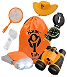 Adventure Kids - Outdoor Explorer Kit, Children Binoculars, Flashlight, Compass, Magnifying Glass,...