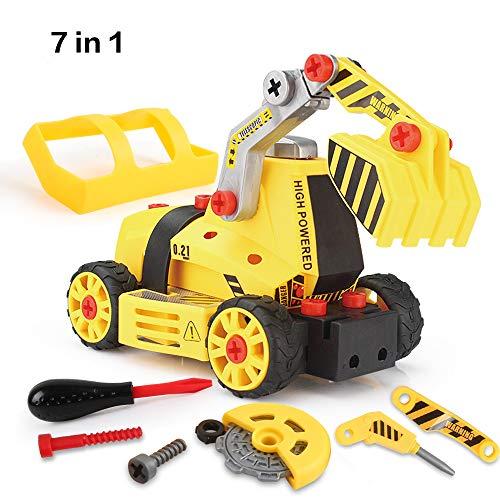 組み立て 車セット おもちゃ Beebeerun 知育玩具 マシーンメーカー 作業車 模型 ねじ止めおもちゃ 7in1 変形 カラフル トラック DIYカー 男の子 工事ごっこ 耐久性 耐衝撃 くみたて ネジ留めブロック 立体パズル 子供向け ごっこ遊び