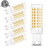 G9 Led Bulb,6W(60W Halogen Bulb Replacement),Hansang Chandelier Light Bulbs,88 LEDs,Warm White 3000K,Non-dimmable,G9 Bi Pin Base,360° Transparent Plastic,550LM,Pack of 6