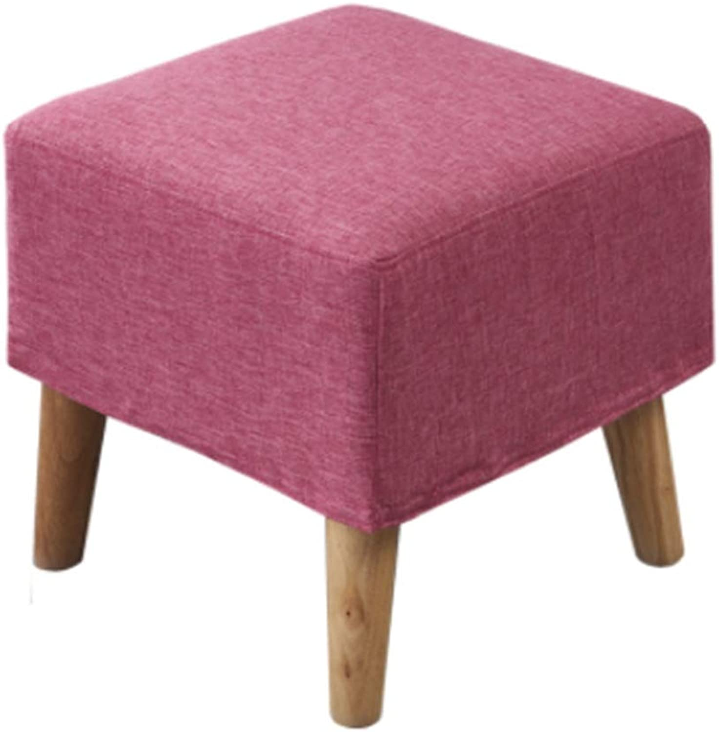DYFYMX,Stylish Stool Change shoes Stool Fabric Removable and Washable Small Sofa Stool Solid Wood Foot Bed end Stool Furniture (color   C, Size   40x40x40cm)