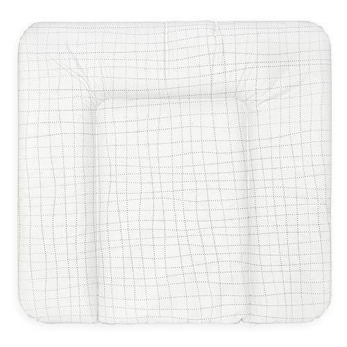 Bonky Wickelauflage weiche Wickelunterlage Baby Wickeltischauflage Abwaschbar 70x75 Gitter Weiß