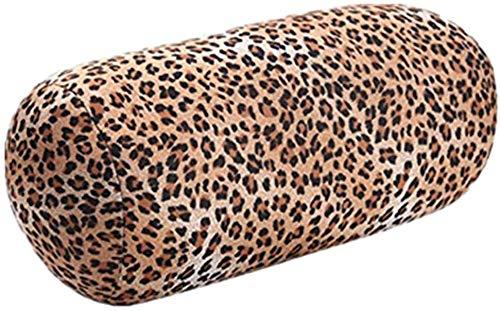 homeyuser Reisekissen Rollkissen Mikroperlen Bezug Nackenkissen Nackenrolle Kissen Rollkissen Beanie Kissen für Mutterschaft Körper Squishy Reise Schlaf Massage Rücken Unterstützung (Leopard)