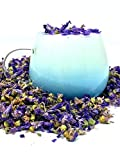 Organic Blue Mallow Flowers - Color-Changing Blue Herbal Tea | 100% Dried Blue Mallow Flowers - Malva sylvestris | Net Weight: 0.5oz / 15g