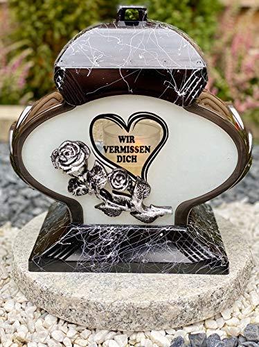 Grablampe Mit Motiv Grablicht Kerze Grabkerze Grabdekoration Grabschmuck Gartenlampe