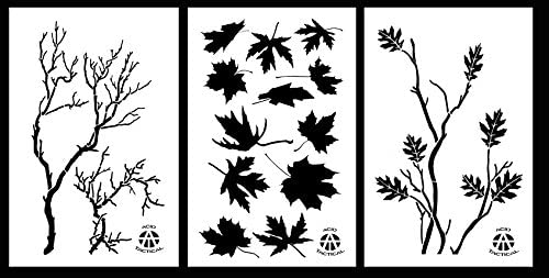 Acid Tactical 3 Pack 9x14 Gnarly Branch Maple Leaves Oak Branch Vinyl Airbrush Spray Paint Stencils product image