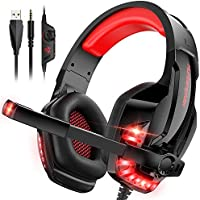 Clevo Noise Cancelling Over-Ear Gaming Headset with Microphone